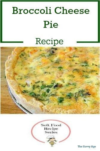 Easy, quick and yummy is this Broccoli Cheese Pie recipe. Spinach can easily be substituted for broccoli!