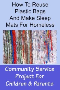 How to reuse plastic bags and craft sleeping mats for homeless.