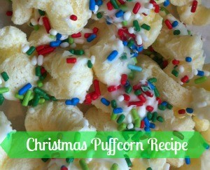 Enjoy the holidays with this easy Christmas Puffcorn recipe!