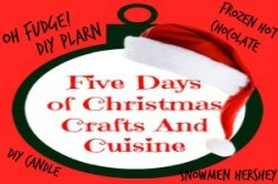 Enjoy fudge, frozen hot chocolate and more in the Five Days of Christmas Crafts And Cuisine.