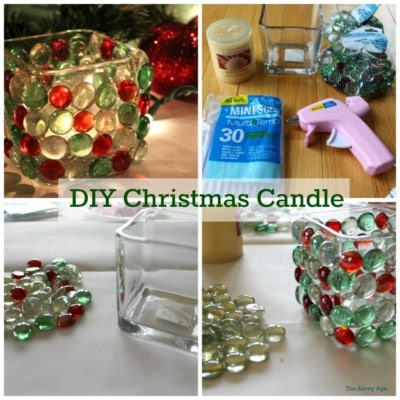 Easy DIY Christmas Candle using the dollar store!