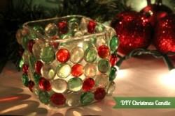 Easy DIY Christmas Candle!