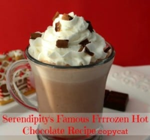 Copycat Serendipity Frozen Hot Chocolate Recipe