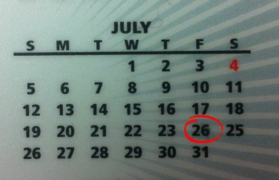 Interesting arrangement of numbers for July.