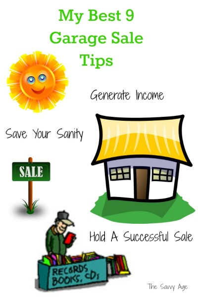 My top 9 Garage Sale tips to make your garage or yard sale a success!