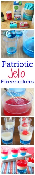Celebrate the red, white and blue with this Patriotic Jello Firecracker recipe. Easy, no bake and low cal.