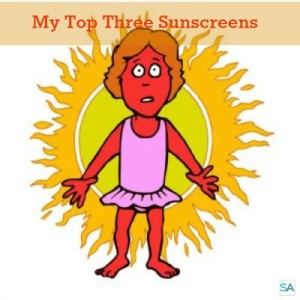 Stay healthy with sunscreen. My top three sunscreens for sensitive skin.