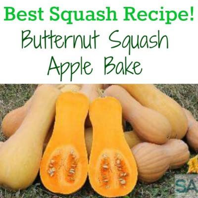 Best Squash Recipe! Butternut Squash Apple Bake