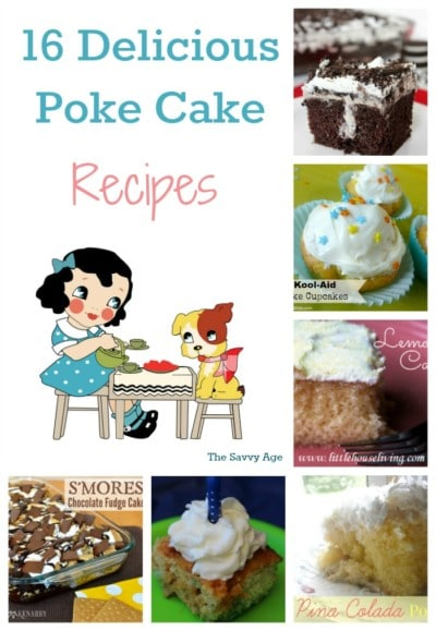 Enjoy 16 delicious and delectable poke cake recipes!