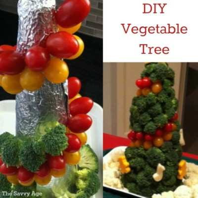 DIY Vegetable Tree Centerpiece