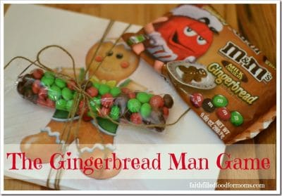 Gingerbread Man Game With M&M's