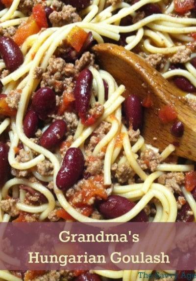 Grandma's Hungarian Goulash recipe. Frugal, affordable and easy to make!