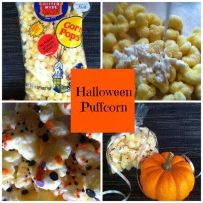 Halloween Puffcorn Treats – Boo!