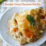 Double Crust Chicken Pot Pie Recipe. Double the crust and double the comfort with this easy to make and bake recipe.