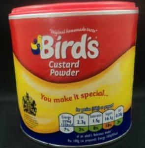 Bird's Custard Powder for your custard recipes.