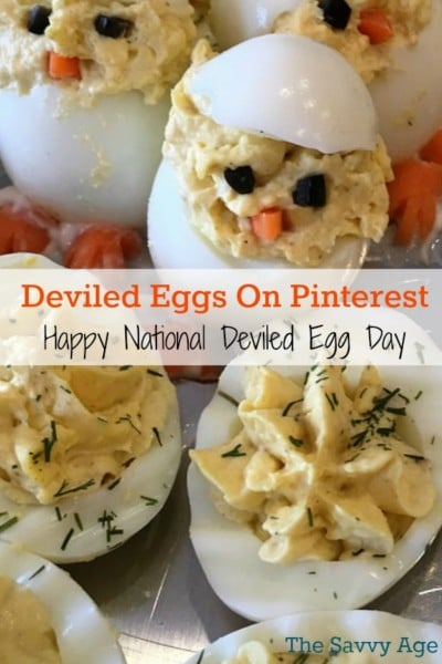 Celebrate deviled egg recipes on Pinterest with 50= recipes.