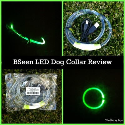 Fun and practical Bseen LED Dog Collar. Yes we can see you now!