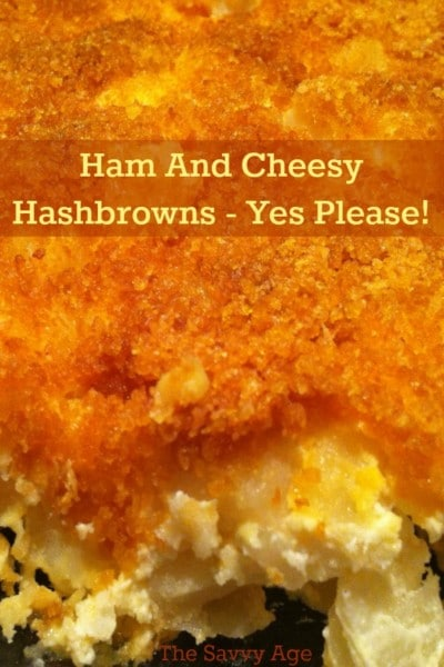 Great recipe for ham leftovers! Ham And Cheesy Hashbrowns recipe.