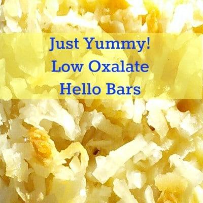 Sweet! Low Oxalate Hello Dolly Bar