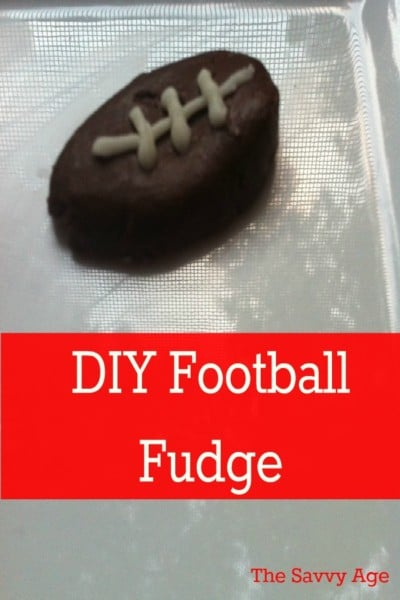 Football Fudge DIY is easy to make for game day.