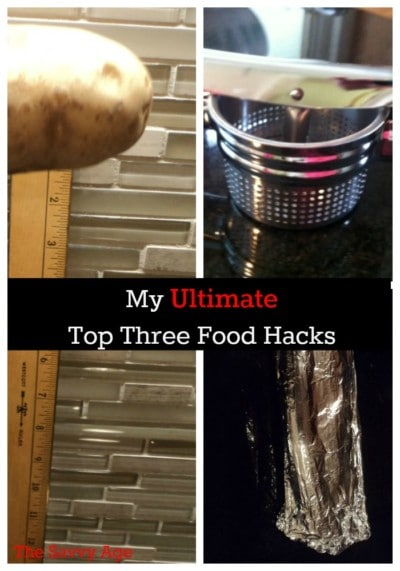 My top three food hacks to make cooking easier .