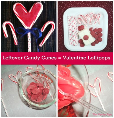 Recycle Leftover Candy Canes Into Valentine Lollipops