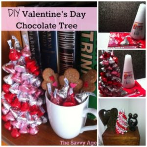 Yum! Easy DIY Valentine's Day Chocolate Tree! Edible centerpiece for all ages.