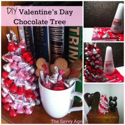 DIY Valentine's Day Hershey Kisses Tree