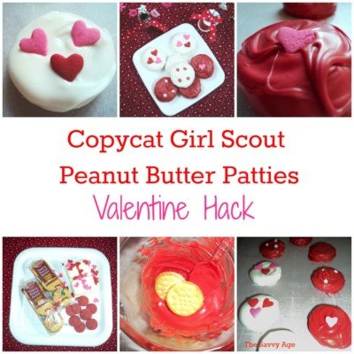 Easy no bake Copycat Girl Scout Peanut Butter Patties for Valentine's Day!