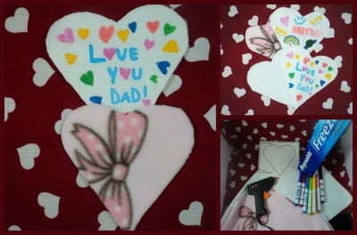 Fun DIY No Sew Valentine's Day card! Fun for kids and a cute DIY for grandparents and grandchildren!