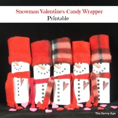 Valentine's Day Snowman Candy Wrapper – Printable!