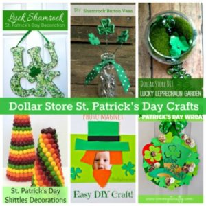 Enjoy 6 Dollar Store St. Patrick's Day crafts!