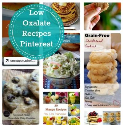 Low Oxalate Recipes:  Pinterest Board