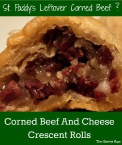 The Easy Leftover Corned Beef Recipe: Corned Beef And Cheese Crescent Rolls