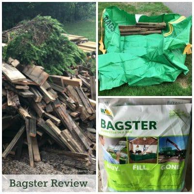Bagster green bag, deck planks