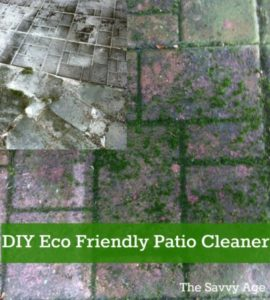 DIY Eco Friendly Deck Cleaner. Clean up your patio or deck with this environment and pet safe product plus your DIY elbow grease.