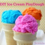 School is out! Easy DIY Ice Cream Playdough with only two ingredients!
