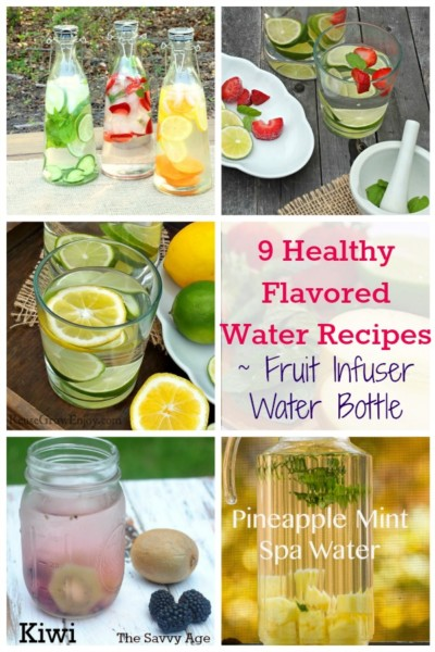 9 Healthy Flavored Water Recipes for your fruit infuser water pitcher!