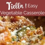 Tiella recipe: layered zucchini and cheese casserole