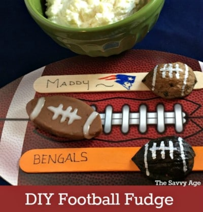 Touch Down! DIY Football Shaped Fudge