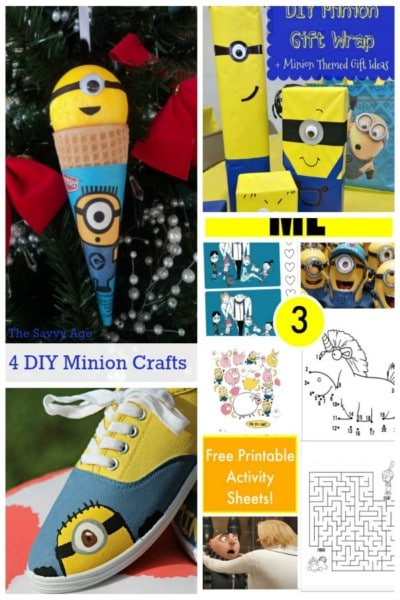 4 Easy DIY Minion Crafts for your favorite minion fan!