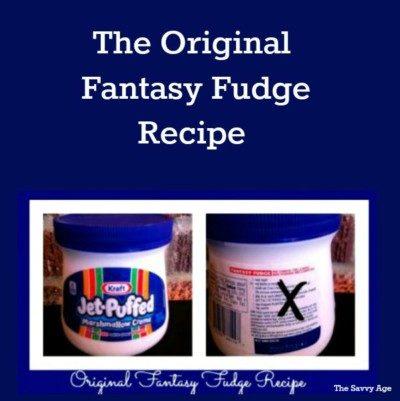 Enjoy the original Fantasy Fudge recipe !