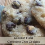 So easy! The best coconut flour chocolate chip cookies recipe.
