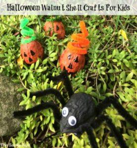 Have A Walnut Shell Halloween! Cute Halloween Crafts For Little Kids