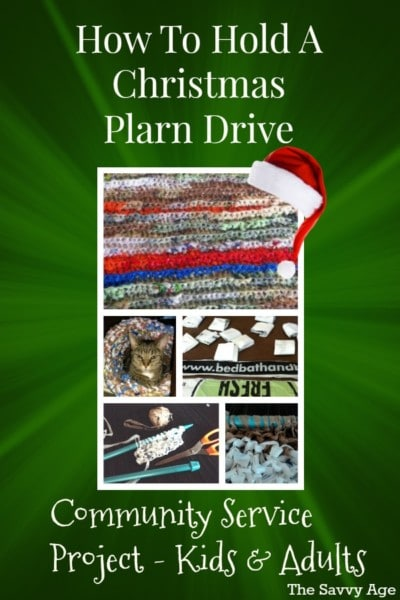 how to hold Christmas Plarn Drive pt