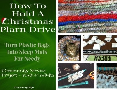 Turn plastic bags into sleep mats for the homeless. Learn how to hold a plarn drive!