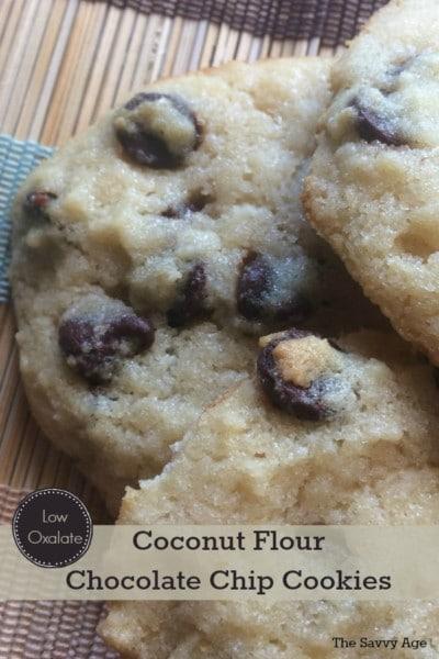 low oxalate coconut flour chocolate chip cookies recipe pt