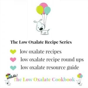 low oxalate recipes information