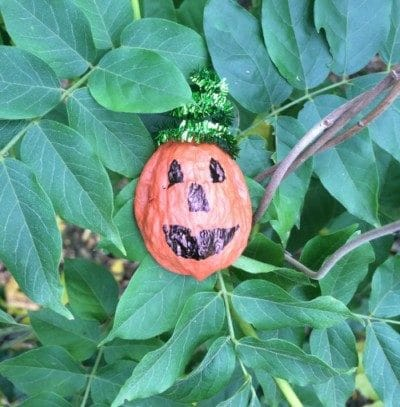 walnut shell pumpkin craft