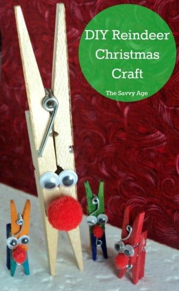 DIY Reindeer Christmas Clothespin craft